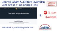 Joomla Gears and J2Store Overrides